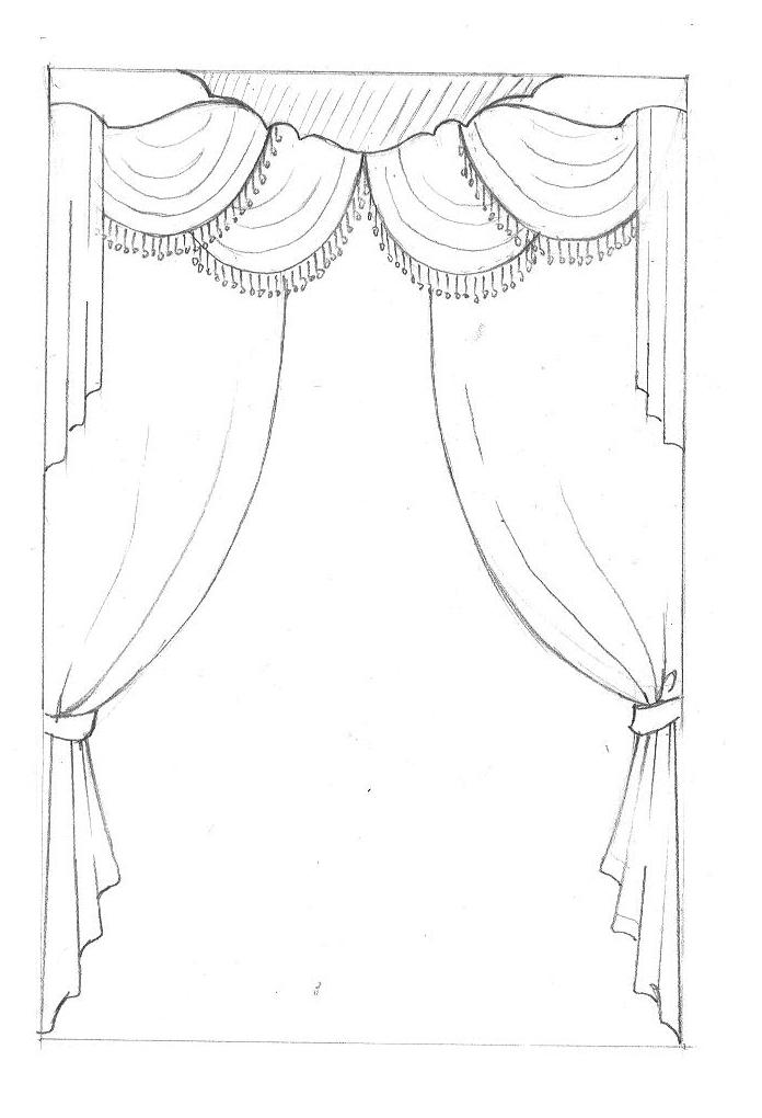 窗帘简笔画